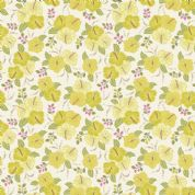 Lewis & Irene Island Girl - 5304 - Yellow Hibiscus Floral on White - A192.1 - Cotton Fabric